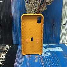 Load image into Gallery viewer, Italian Lizard Embossed Leather Case with Multiple standing function iPhone XS - orange
