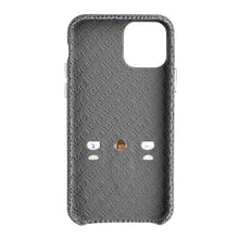 Load image into Gallery viewer, iPhone 11 Pro Italian Lizard Leather Case with Multiple standing function - Black