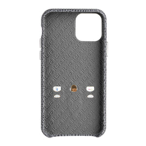 iPhone 11 Pro Italian Lizard Leather Case with Multiple standing function - Black