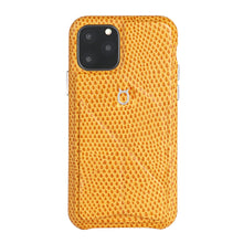 Load image into Gallery viewer, iPhone 11 Pro Max Italian Lizard Leather Case with Multiple standing function - Orange