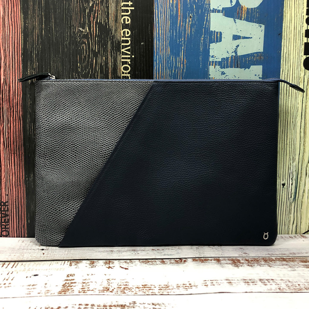 Italian Lizard Embossed Leather MacBook Series Bag with Splicing leather designed