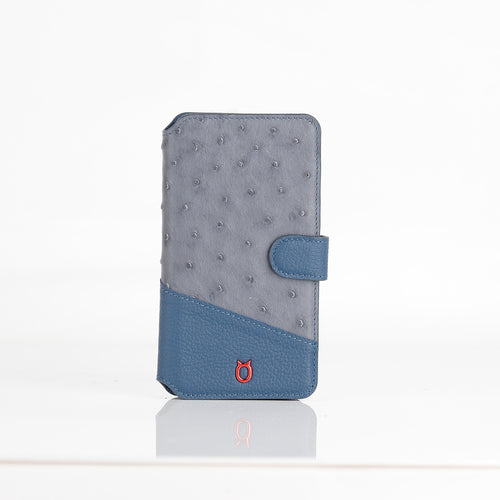 Ostrich Leather Flip Wallet Phone Case iPhone 11 Pro