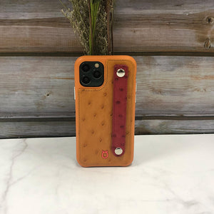 Ostrich detachable Kickstand Leather Case iPhone 11 Pro Max