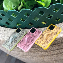 "Load image into Gallery viewer, Multicolor ""2"" Snake embossed leather iPhone 11 Pro Max Case"