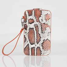 Load image into Gallery viewer, Multi-colored Snake embossed Premium leather Multifunctional Bag