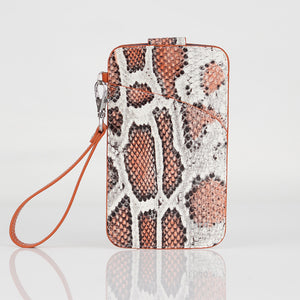 Multi-colored Snake embossed Premium leather Multifunctional Bag