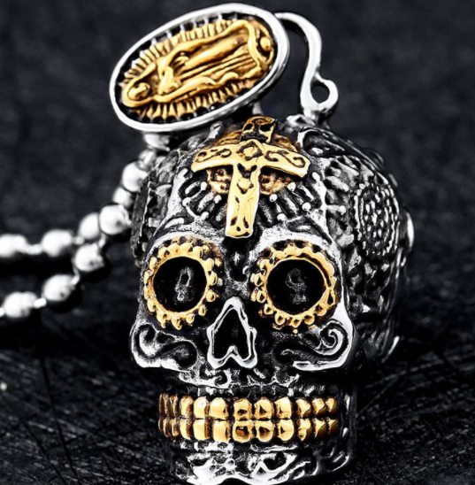 Skull Carving Pendant Necklace