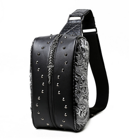 Image of Riveted Leather Gothic Bag