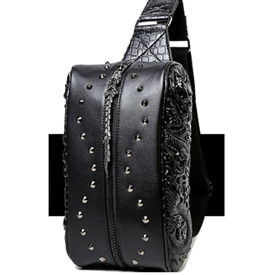 Riveted Leather Gothic Bag
