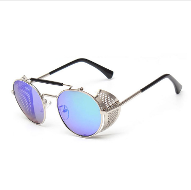 Light brown fashion steampunk sunglasses