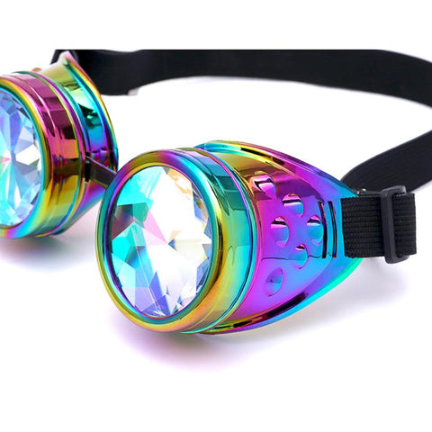 Image of Steampunk kaleidoscope Cosplay goggles fashion goggles clothing with street photography trend
