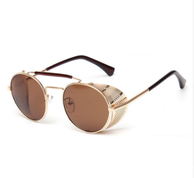 Image of Light brown fashion steampunk sunglasses