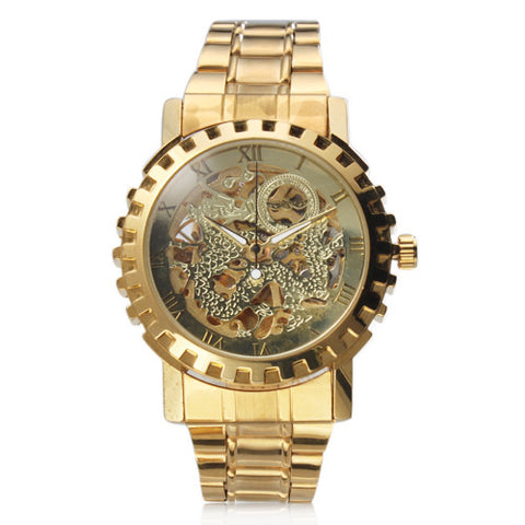 Image of Golden automatic mechanical watch
