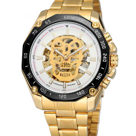 Steampunk Skull Mechanical Wrist Watch