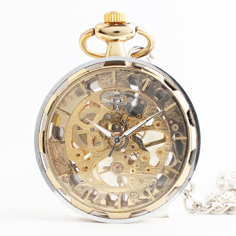 Image of Golden mechanical pocket watch