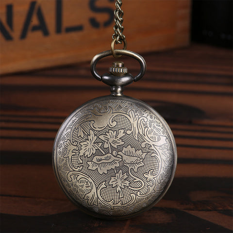 Image of Mechanical gear parts embossed pocket watch