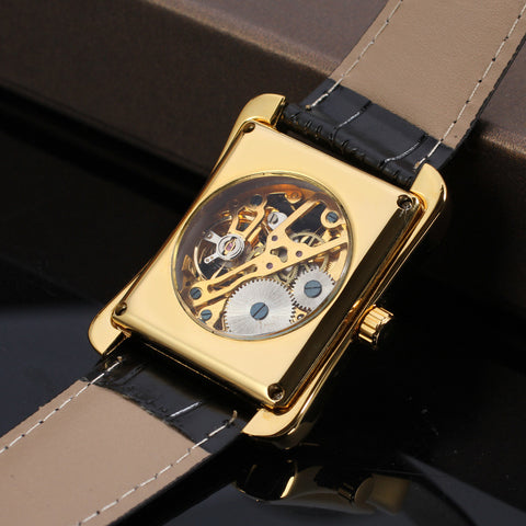Image of Swiss hollow manual mechanical watch
