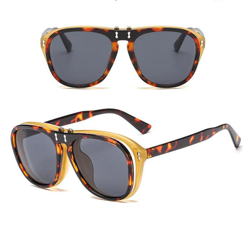 Double Lens Flip Sunglasses