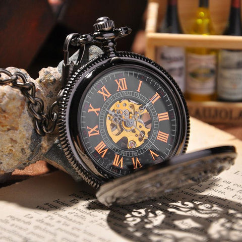 Hollow mechanical pocket watch