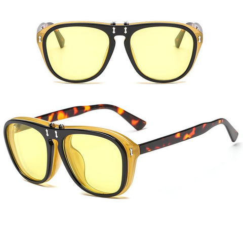 Image of Double Lens Flip Sunglasses