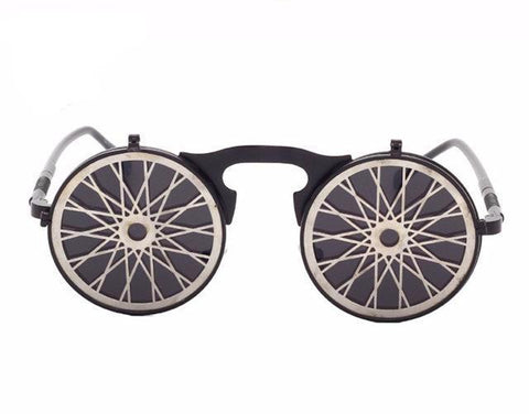 Image of Retro Steampunk Flippable Design Sunglasses