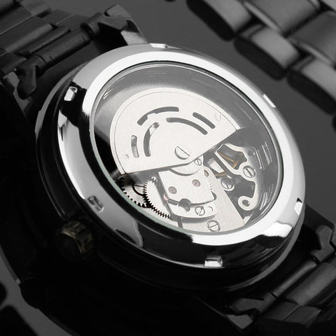 Image of Black Skeleton Steampunk Watch