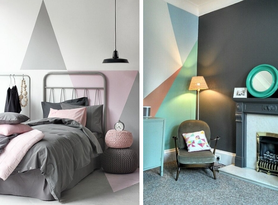 D i y geometric wall jumbled - Geometric wall designs with paint ...