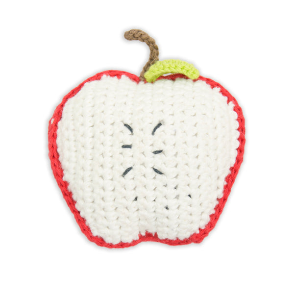 Crochet Rattle: Apple