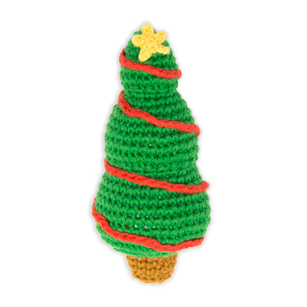 Crochet Rattle: Christmas Tree
