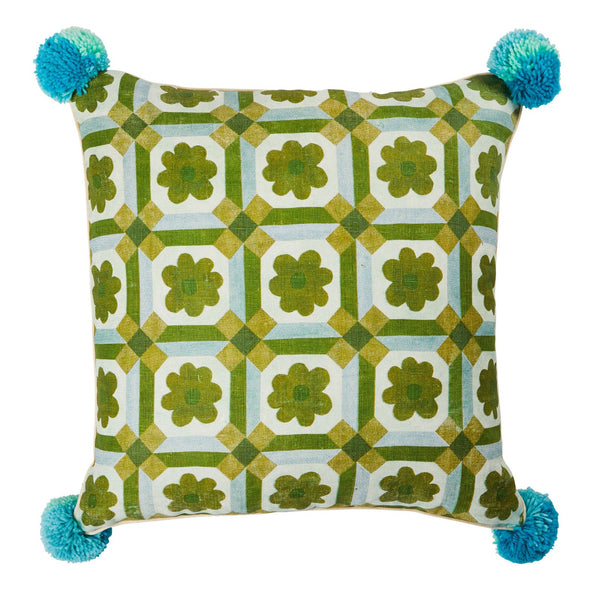 Aster Green Cushion