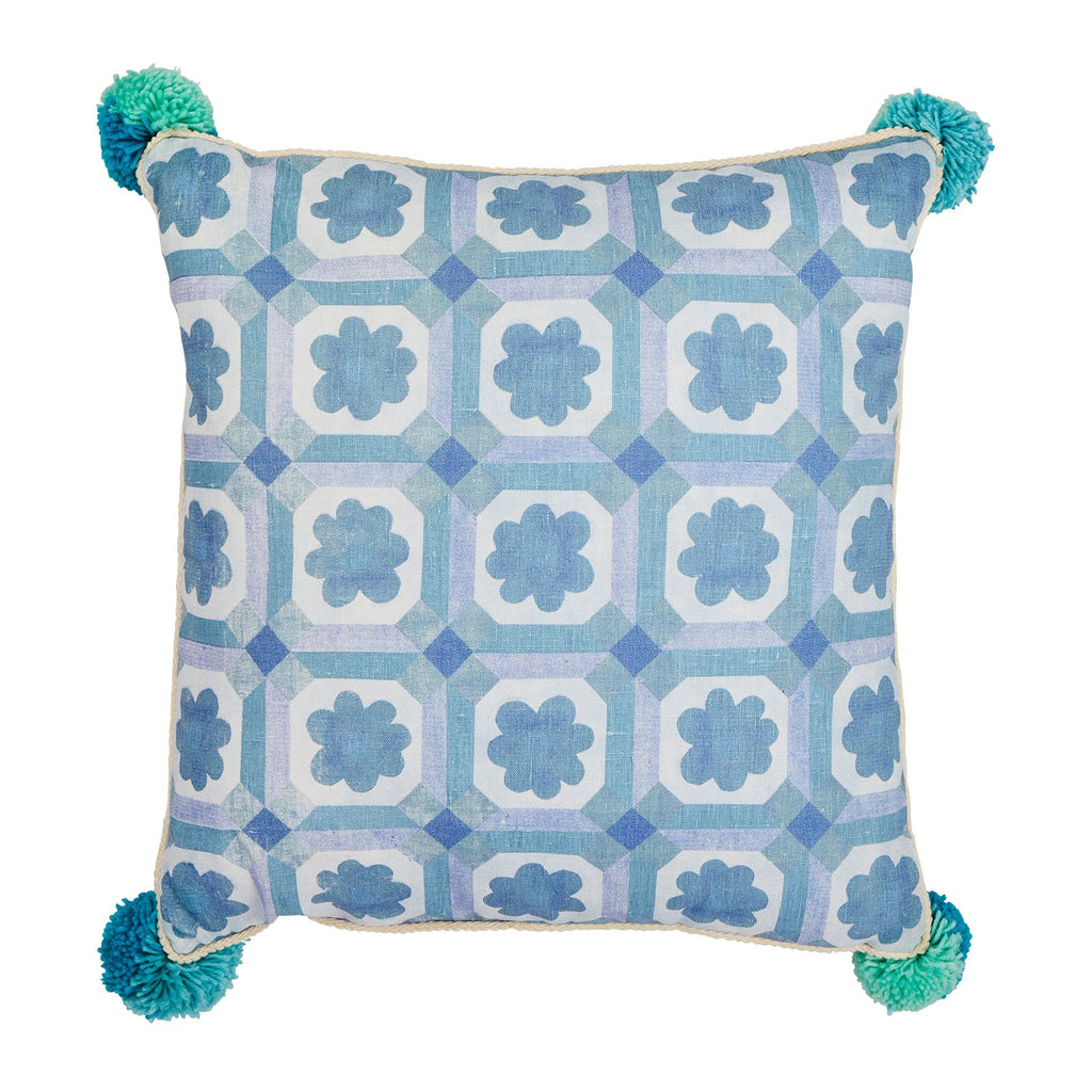 Aster Pale Blue Cushion