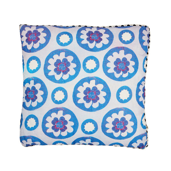 Clover Blue Cushion