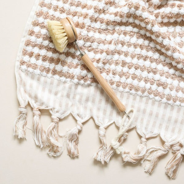 Pompom Bath Towel: Coffee