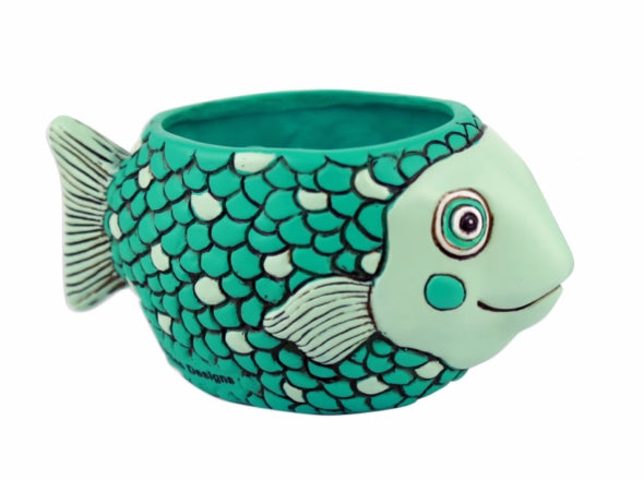 Teal Baby Fish Planter