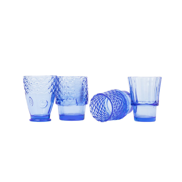 Koifish Stacking Glasses: Blue