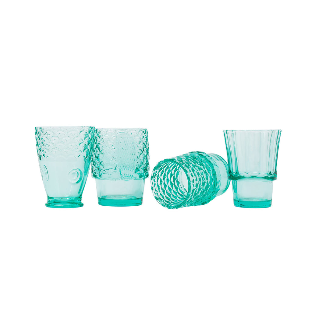 Koifish Stacking Glasses: Mint