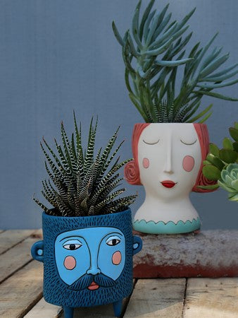 Hairy Jack Planter: Blue
