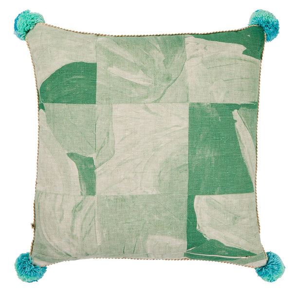Patchwork Cushion Green