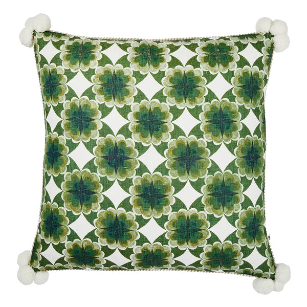 Cinnamon Green Cushion *preorder*