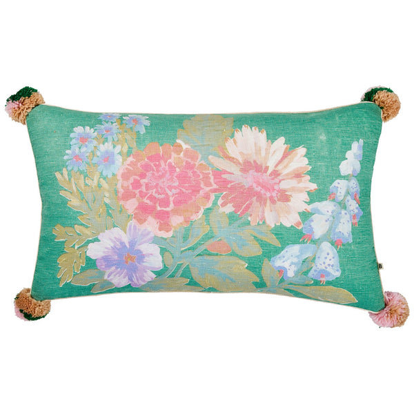 Foxglove Green Cushion *preorder*