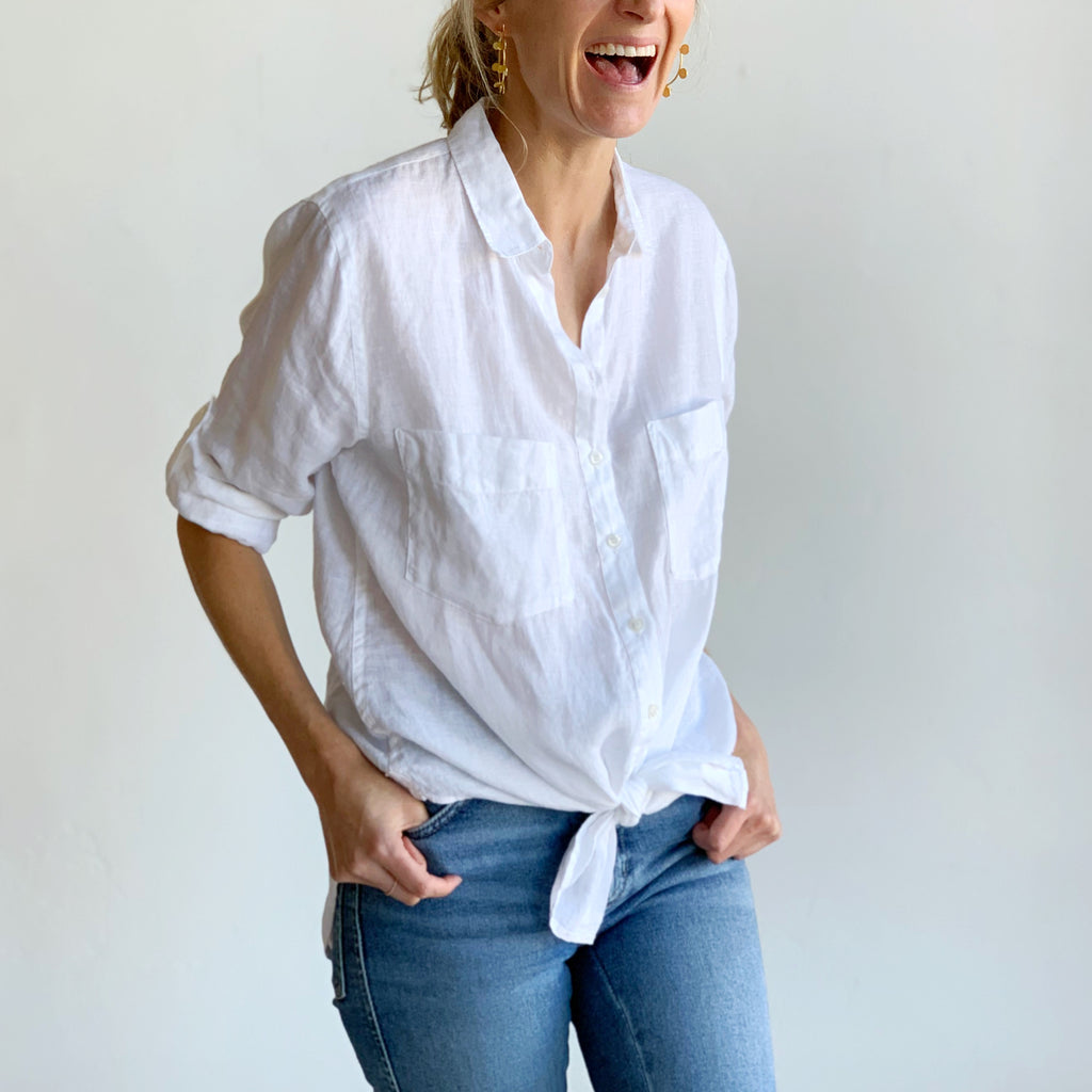 The Best Ever Linen Shirt: White