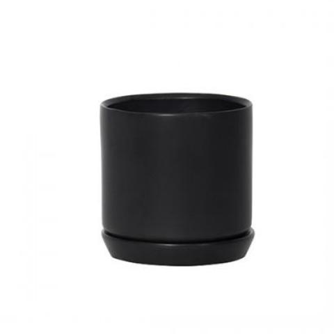 Small Oslo Planter: Jet Black
