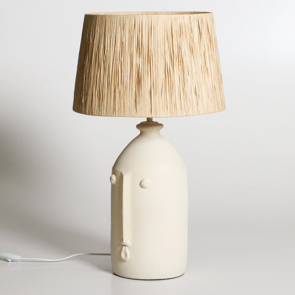 Salvador Table Lamp: White