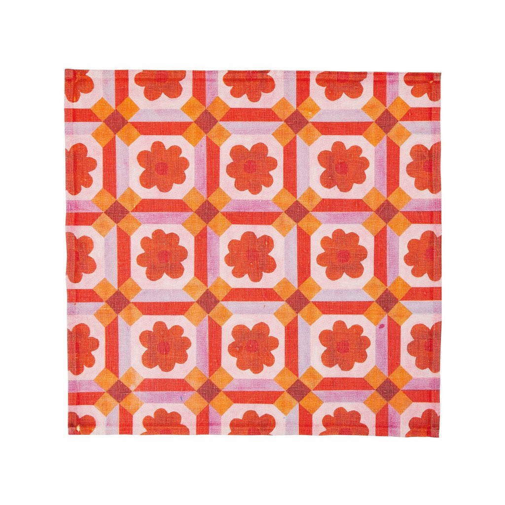 Aster Orange Napkin Set