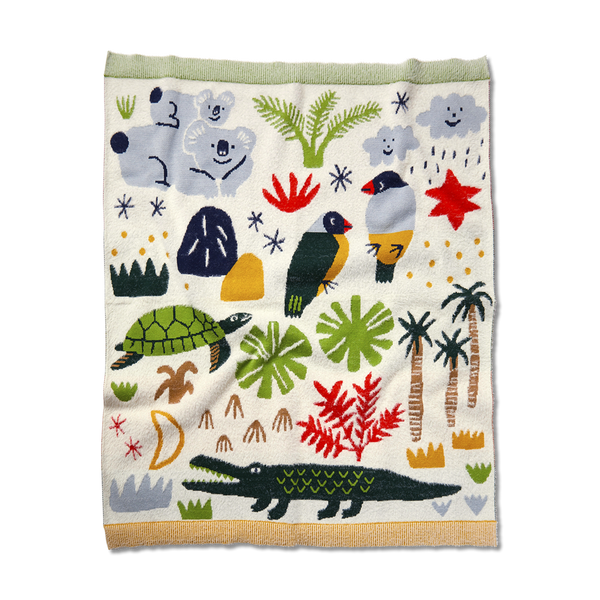 Beach Forest Knit Blanket