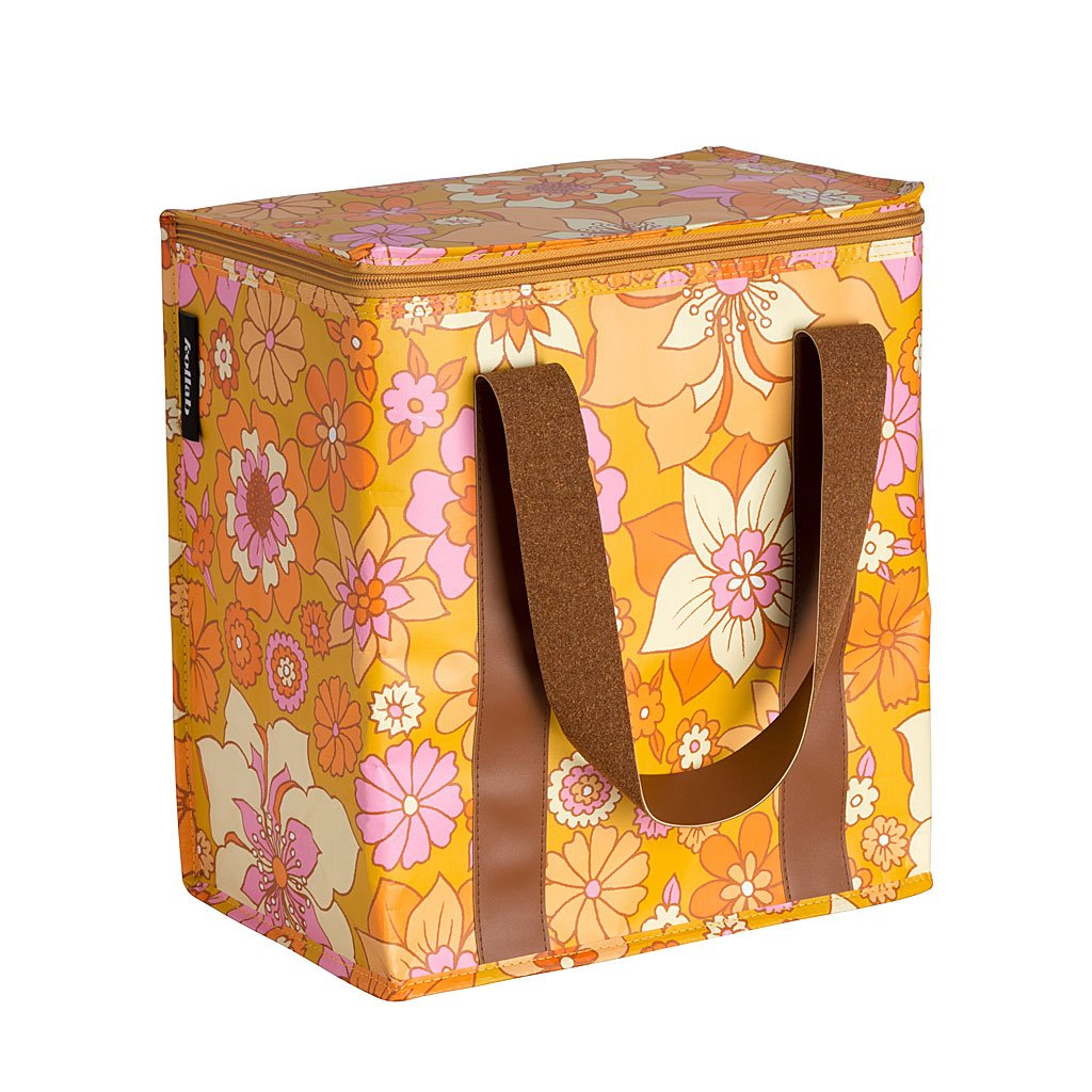 Cooler Bag - Retro Mustard Floral