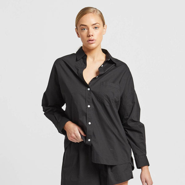 The Chiara Shirt: Black