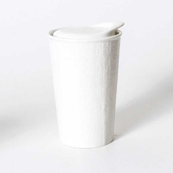 It's A Keeper Ceramic Cup: White Linen