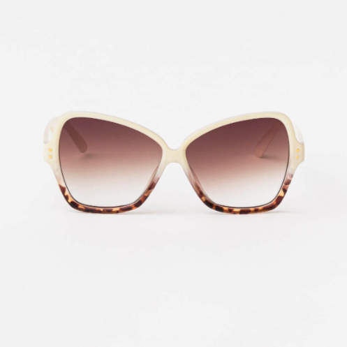 Papillon Sunglasses: Cream Tort