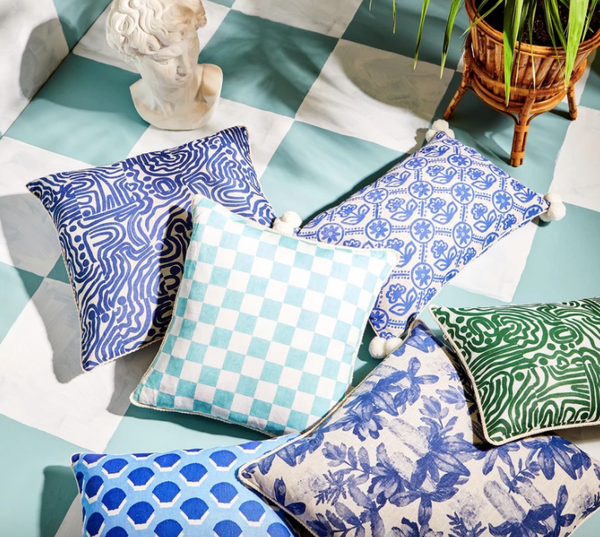 Swell Garden Blue Cushion